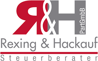 Logo: Rexing & Hackauf PartGmbB vereidigter Buchprüfer • Steuerberater,