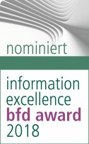 Logo Nominierung information excellence bfd award 2018 -